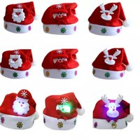 Led Kids Navidad Sombrero de Navidad Adulto Mini Red Santa Claus Deer Party  Decor Navidad Gorras Decoraciones de Navidad Titular de la vajilla niños ... 4d7f63f228e