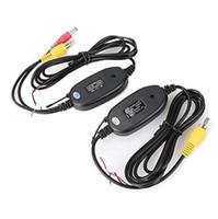 sensor receptor del transmisor al por mayor-2.4 Ghz Wireless Rear View Camera RCA Video Transmitter Receptor Kit para coche Rearview Monitor FM Transmitter Receptor