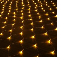 Wholesale LED NET String lights Christmas Thanksgiving Outdoor waterproof Net Mesh Fairy light m m m m Wedding holiday party light sunway168