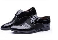 ingrosso i pattini vestono 13 uomini-Nuova scarpa da uomo HOT Big US taglia 6.5-13 Scarpe piatte Scarpe da lavoro di lusso da uomo Oxford Scarpe casual Derby nero / marrone Pelle nx32