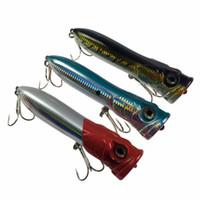 ingrosso grandi richiami d'acqua-Commercio all'ingrosso Popper Fishing Lure 3.7 oz 7in Saltwater GT Offshore Big Game Top Water Tuna esche Heavy Duty Hare esche esche