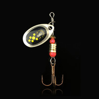 Wholesale style lure online - Water Droplet Rotary Sequins Lures Fake Bait Fishing Pesca Metal Reflector cm G Classic Style Fish Hook wh ii