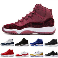 Wholesale wine red boots - 11 Men basketball shoes Gym Red Midnight Navy WIN LIKE 82 96 Bred 72-10 Space Jam 45 GS PRM Velvet Heiress wine Blue Purple Black Stingray
