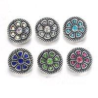 snap buttons jewelry venda por atacado-10 pçs / lote Botão Snap Jóias Cores Misturadas de Metal 12mm Snap Botões fit Pulseira Bangles mulheres Jóias