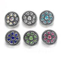 Wholesale 12 mm snap button charms resale online - 10pcs Snap Button Jewelry Mixed Colors Metal mm Snap Buttons fit Bracelet Bangles women Jewelry