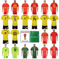 fdcc4b8bc Belgium 2018 World Cup 4 Vincent Kompany Jersey Set Men Soccer 14 Dries  Mertens 15 Thomas Meunier Football Shirt Kits Home Red Away Yellow