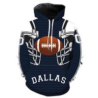 erkek çocuk giyim toptan satış-Dallas Yeni Stil 3D Kask Baskı Hoodies Adam Gevşek Aktif Hoodies Genç Boys Giyim Ücretsiz Kargo