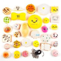 Wholesale red ice cream for sale - Group buy Squishy toy Phone Straps Slow Rebound Cute Mini Kawaii Decompression Jumbo Panda Bun Cute Soft Bread Cake ice Cream Gift