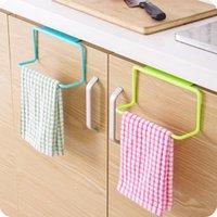 aromahalter großhandel-1 Stücke Handtuchhalter Küche mehrzweck Hängen Halter Veranstalter Badezimmerschrank Schrank Kleiderbügel Tür Zurück