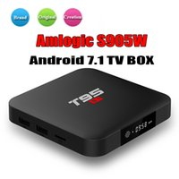 neuer kastenempfänger großhandel-Neue T95 S1 Smart TV BOX Android 7.1 Set Top-Box Amlogic S905W H.265 4K HD WIFI Android TV Receiver PK H96 x96 Media Player
