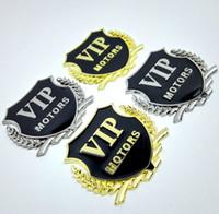 Wholesale vip stickers - 3D Metal Car VIP Labeling Stickers New Sticker car styling 2pcs Car Decorator Sticker Emblem Badge GGA201 60PCS