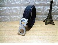Wholesale Womens Waist Belts - 2018 New luxury quality genuine leather belts alloy buckle brand designer belt mens womens fashion high leisure waist strap
