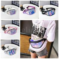 Wholesale punk shoulder bags - Laser Hologram waist bag Reflective Fanny Pack Women Zipper Waist Packs Punk Holographic Belt Bag k Laser Waist Packs KKA5332