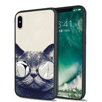 Wholesale Hard Case Cat Iphone - Cute cat Fashion Shaka Laka Phone shell Clear Case Hard back CoverFor iPhone 6 6S 6plus  7 7plus 8 8s plus X