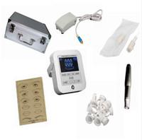 máquina inteligente venda por atacado-Máquina de Tatuagem Digital Inteligente Maquiagem Permanente Da Sobrancelha Lip Kit Kit Swiss Motor Power Supply s
