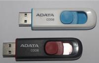 capacidade real de disco flash de 16 gb venda por atacado-100% Real capacidade ADATA C008 2 GB 4 GB 8 GB 16 GB 32 GB 64 GB USB 2.0 de Memória Flash Pen Drive Pendrives Pendrives Thumbdrive