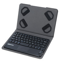 Wholesale touch android tablet online - KKmoon Keys Ultra Slim Thin Mini Touch Pad Bluetooth Keyboard with Foldable Magnetic Leather Case for Android Windows PC Tablet Smartphon