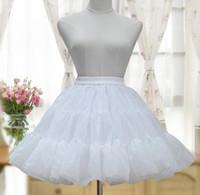 organza petticoat weiß großhandel-Lolita Court Prinzessin Mode weiß / schwarz Lolita Frau Puff Rock Organza Petticoat überlagert Tutu Rock