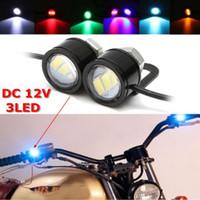 atv levou kits de luz venda por atacado-2 pcs LED Águia Olho Lâmpada Strobe Flash DRL Bicicleta Motocicleta Carro ATV Luz