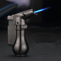 Mini Spray Gun Compact Butane Jet Lighter Torch Turbo Lighter 1300 C Flated Windproof Metal Jet Lighter NO GAS