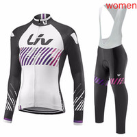 Wholesale cycling jersey set long sleeve women for sale - 2018 Women Liv cycling clothing long sleeve Pro cycling jersey Bike bib long pants Set cycling clothes A0603