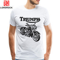 Wholesale Vintage Motorcycle Club - Vintage Indian Harley Skull Rider Tee Shirt Men Short Sleeve Custom American Motorcycle Club T shirt Summer Motorbike Clothing