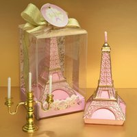 Wholesale Party Supplies Eiffel Tower Decorations - Eiffel Tower Candle Pink Silver Romantic Wedding Gift Child Birthday Candles Cake Decorative Festival Party Decoration