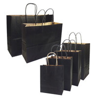 Wholesale high end gift bags for sale - Group buy 20 Gift Bags With Handles Multi function High end Black Paper Bags Size Recyclable Environmental Protection Bag