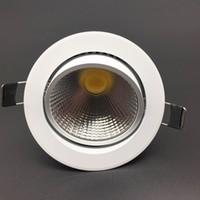 yeni tavan armatürleri toptan satış-10 adet Yeni Dim LED Gömme Gömme Tavan 3 W 5 W 7 W 12 W 85-265 V COB LED DownLights COB Spot Aşağı ışık Ampul