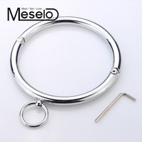 Wholesale positions for sex toys resale online - Stainless Metal Sexy Collar Sex toys Adult Games Adult Product Erotic Positioning Collar Restraint Bondage Erotic Toy for Couple Y18100802