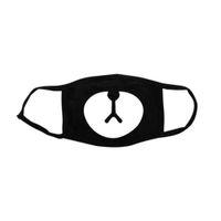 ingrosso maschera nera-Nuovo 2018 Donna Uomo Nero Anti-Polvere di Cotone Cute Anime Cartoon Bocca Maschera Kpop Orso Fortunato Moda Muffola Viso Bocca Maschere
