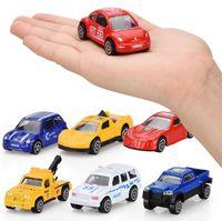 pequeños camiones de juguete al por mayor-Metal Pequeño coche de Dibujos Animados Juguetes 16 Estilos Scooter deportes regalos camión Juguetes para el Coche Los Mejores Regalos de Navidad DHL Envío Gratis
