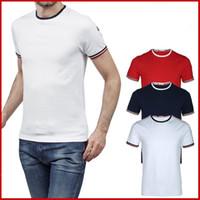 amerika birleşik devletleri moda tişörtleri toptan satış-Yaz 2018 ürün Avrupa ve Amerika Birleşik Devletleri'nde popüler pamuk T-shirt baskı renkli yaz moda eğlence moda hip hop T-büzgü