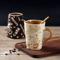 Taza Desayuno 200ml Oficina Pure Color Frosted Taza de cerámica Taza de café,Un Taza de café