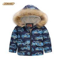 Wholesale cars hooded online - Cute Car Winter Kids Jacket Boys Outerwear Coats Active Boy Windbreaker Cartoon Sport Suit For Children Clothes Baby Boy Parkas