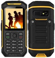 Wholesale military walkie resale online - Quality Walkie Talkie PTT Mobile Phone X6 LCD Flishlight GSM Dual SIM Senior mAH Shockproof Dustproof Military cell Phone