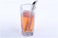 Free shipping! Stainless Steel Filter Tea Sticks Teaspoon Colander Tea Strainers Oblique Tube Tea Infuser Steeper SN2056