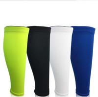 ingrosso maniche di braccio di basket blu-Outdoor ciclismo sport gamba wamers compressione scaldavivande escursionismo da corsa protezione per le gambe per le donne degli uomini manica copertura maniche basket