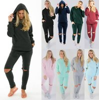 Wholesale ankle length clothing online - New Women s Sports Active Tracksuits Set Piece Pullover Hoodies Sportswear Sweatshirts Women s Plus Size Clothing Tracksuits