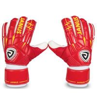 guantes amarillos de futbol al por mayor-Guantes de portero profesionales de fútbol para hombres Boy Protección desmontable para los dedos Guante de fútbol Keeper Amarillo Rojo Adulto Envío gratis