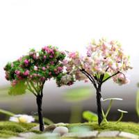 ornements de fées achat en gros de-DIY Simulation Fée Jardin Miniatures Mini Cerisier Willow Décor À La Maison Plantes Succulentes Flowerpot Micro Aménagement Paysager Ornements 1 2jq ff