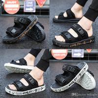 Wholesale t back for men - designer Slippers compile Slippers Summer men's shoes flip flops for loose-fitting men beach slippers rubber flip-flops outdoor sandals