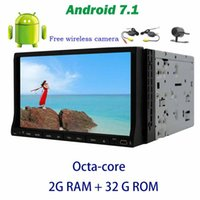 Wholesale arabic computer - 7'' Android 7.1 GPS Car Stereo Octa-core Double din Car DVD Player on-board computer OBD2,DAB+,Digital TV,DVR+Wireless Backup Camera