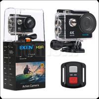 "Wholesale mini dv helmet camera - Original EKEN H9 H9R Remote Control Ultra HD 4K Action Camera WiFi 2.0"" 170D Underwater Waterproof Helmet Sport cam Mini DV"