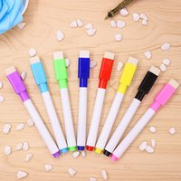 Wholesale Office Whiteboard - Magnetic Whiteboard Pen Whiteboard Marker Dry Erase White Board Markers Magnet Pens Built In Eraser Office School Supplies 4 colors Ink