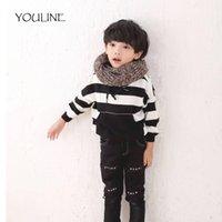 Wholesale little girls scarfs - YOULINE Fashion Children Baby Boy Girl Winter Warm Knitting Scarf Soft 5 Color Scarf Little Boy Girl Ring Scarves S17234
