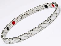 ingrosso braccialetto di ione del braccialetto-Salute Energy Magnetico Ion Germanio Bracciale Uomo Pulseras Hombre Chain Link Bracciale in acciaio inossidabile Bracciale Donna Uomo bio