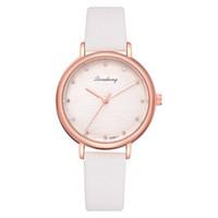 relojes mujer paris al por mayor-Moda París Mujeres Reloj de Cuarzo Reloj de Oro Rosa Correa de Cuero Regalo de Lujo Señoras Vintage INS estilo Reloj Reloj LS1083