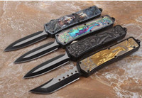 tactical survival knives venda por atacado-Lâmina automática 4 cor lobo Processo auto faca de acampamento ao ar livre sobrevivência faca tático, camping dobrável faca de bolso edc frete grátis