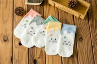 Wholesale invisible han - 10 pieces= 5 pairs of The new Chun xia han edition cute cartoon straight kitten female ship socks cotton is invisible socks